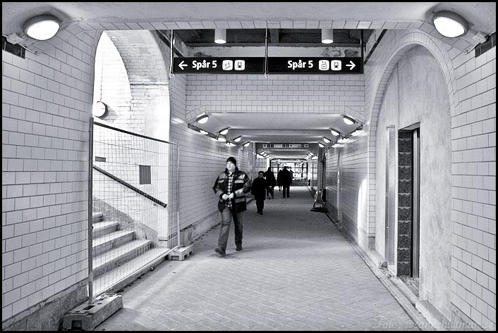 Tunnel under järnvägen