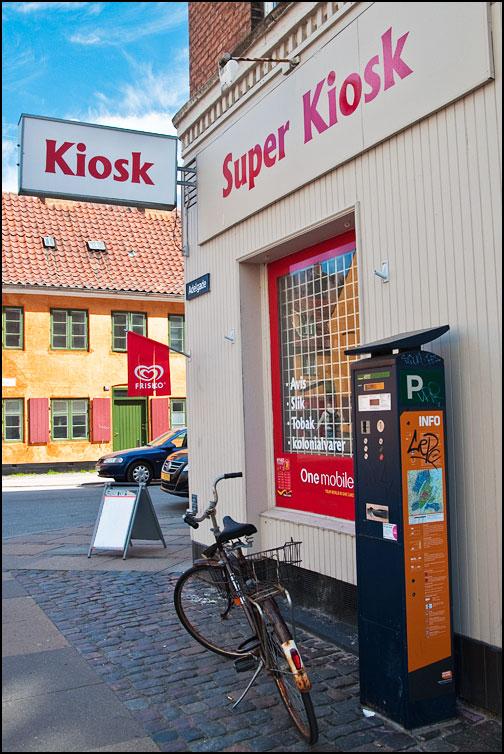 Kioskskyltar i Köpenhamn