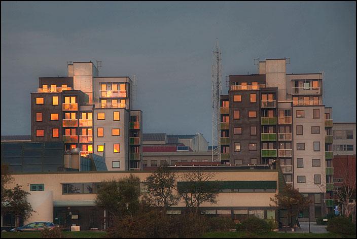Höghus vid Västra hamnen i Malmö