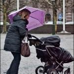 Lila paraply