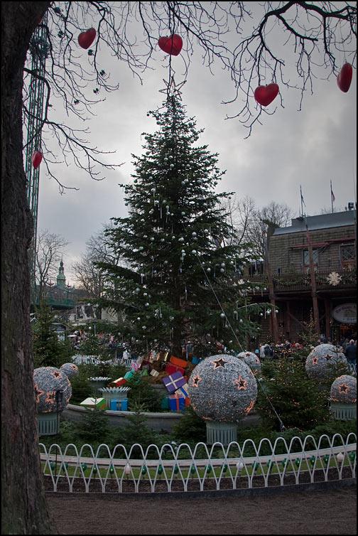 Julpynt på Tivoli