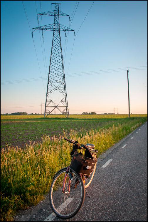 Min cykel när den var hel för en vecka sedan