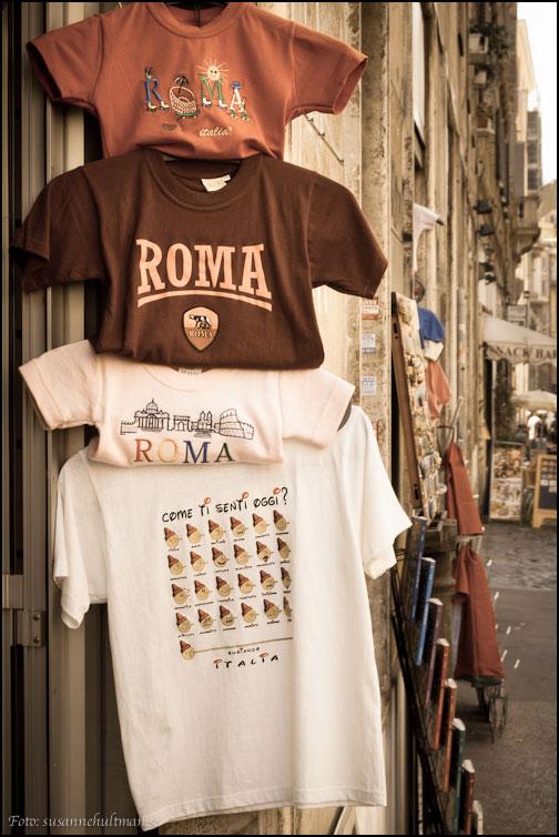 T-shirts med texten Roma