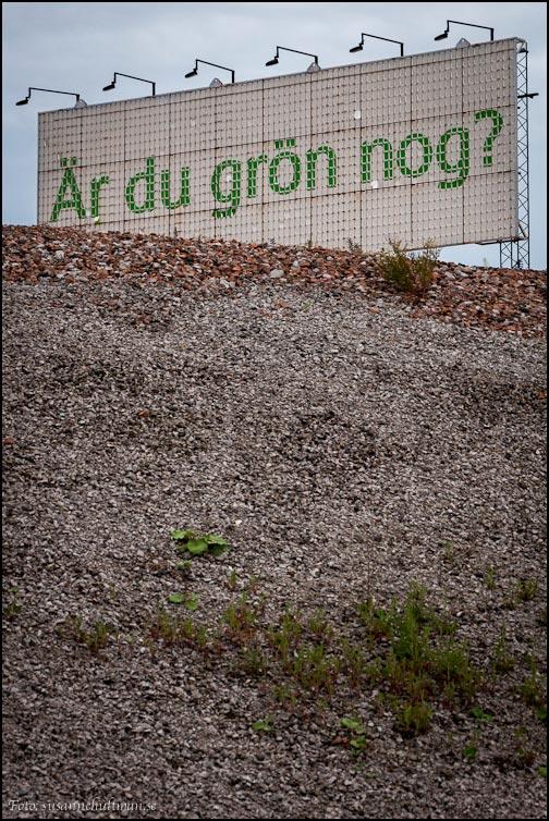 Grön skylt