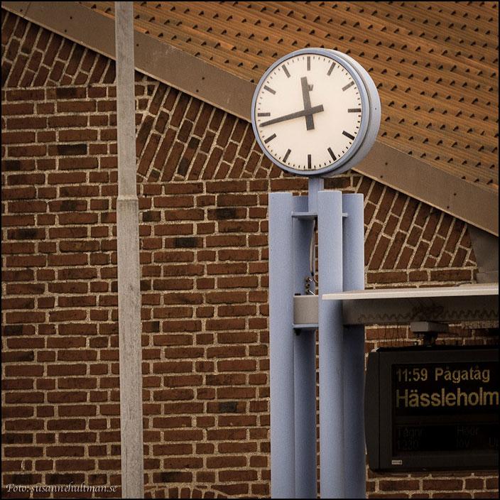 Klocka vid järnvägsstationen i Eslöv