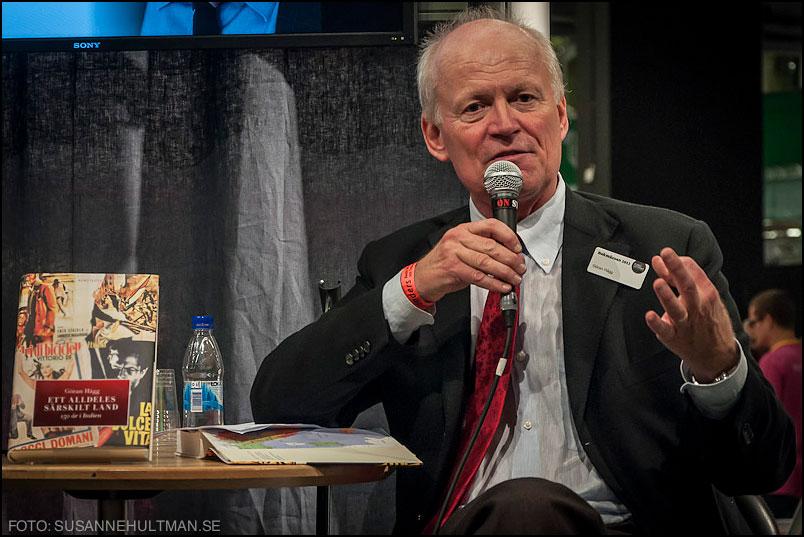 Göran Hägg presenterar sin bok