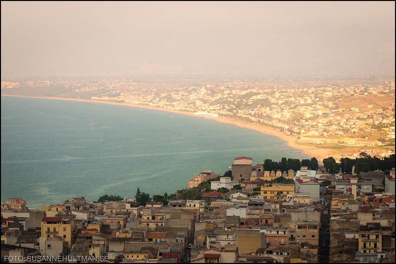 Staden Castellamare ovanifrån