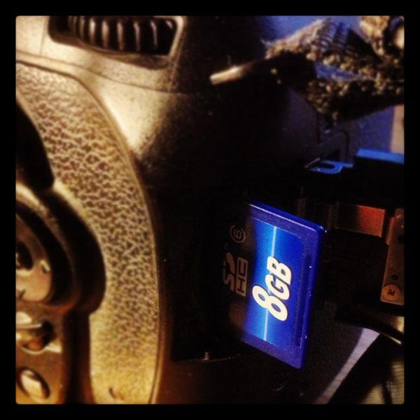 SD-kort i kamera