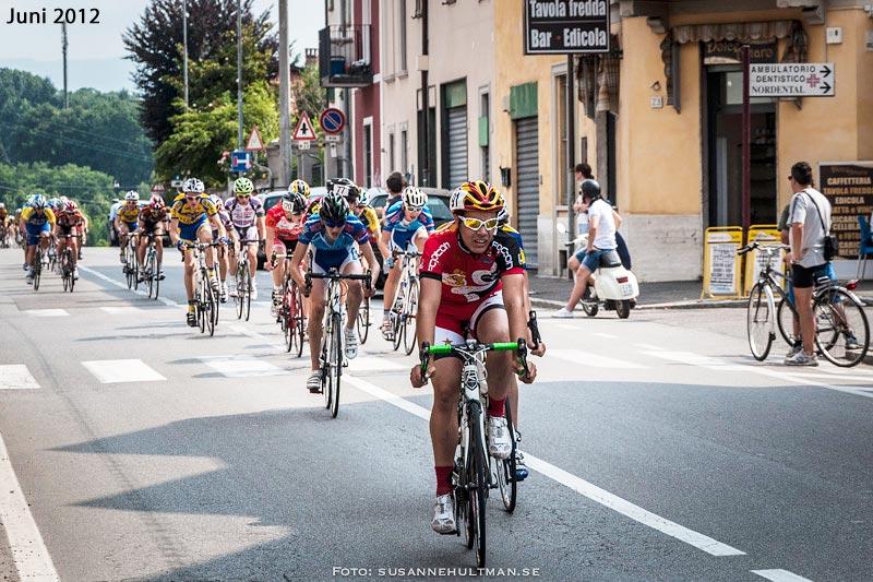Cyklister i Albiate, Italien