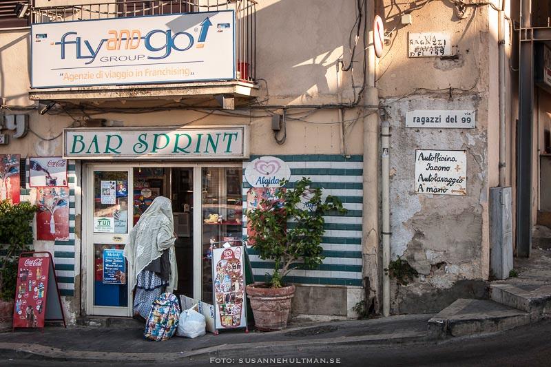 Skyltar i Agrigento