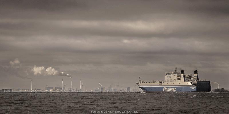 Båt mellan Sverige och Danmark