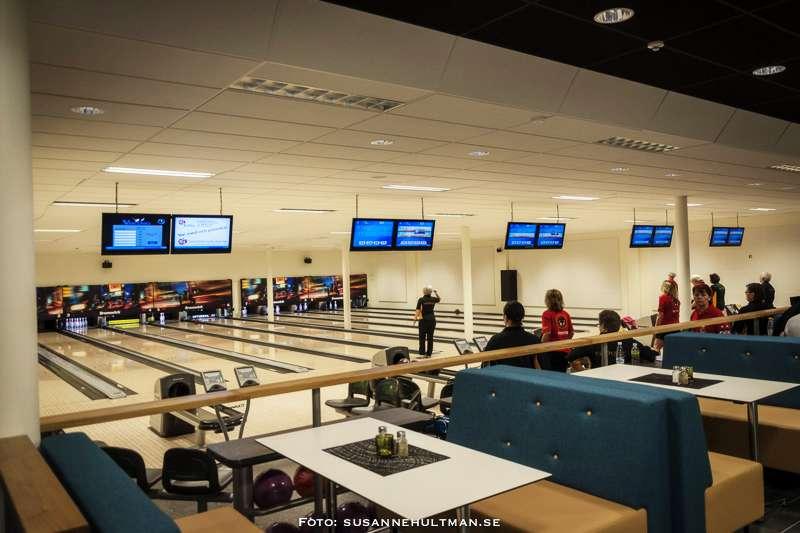Bowlingbanorna med tävlingsspelare