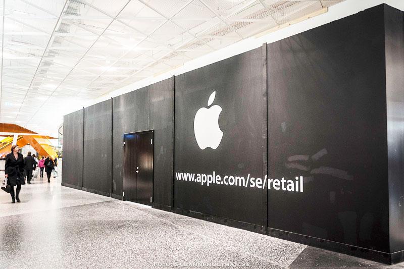 Apple Store med svart vägg