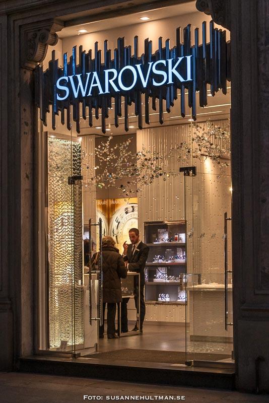 Entréfönster till Swarovski