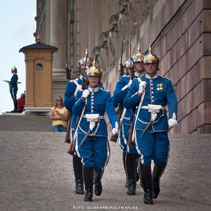 Kungliga vakten vid Stockholms slott.