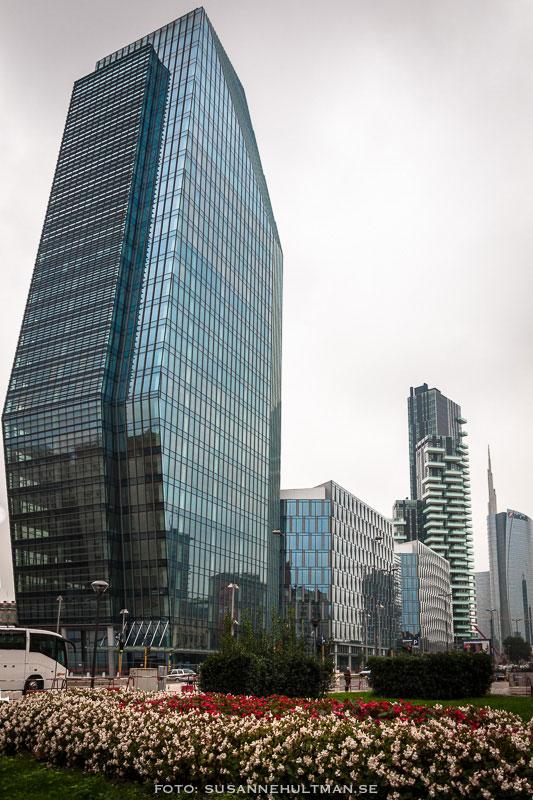 Skyskrapor vid Porta Nuova