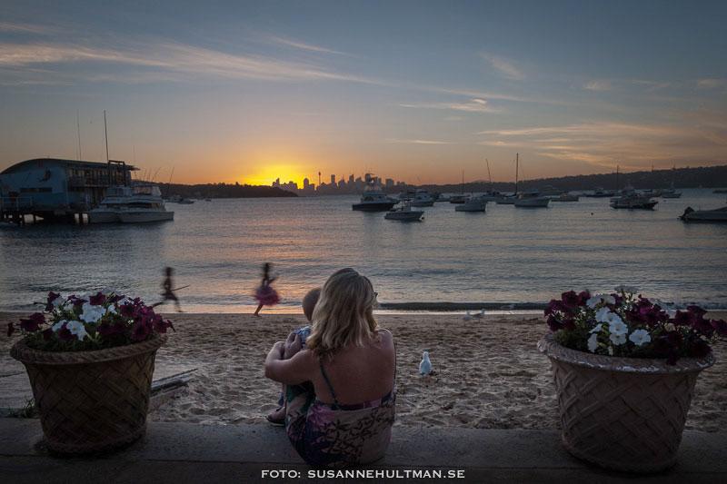 Solnedgång vid Watsons Bay