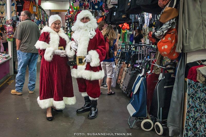 Jultomtar på marknaden