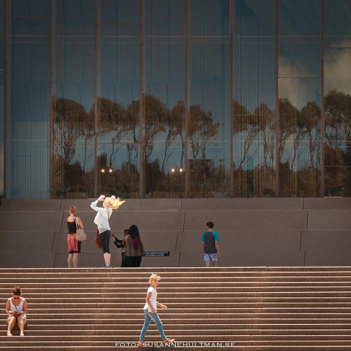 Trappan till Sydney Opera House