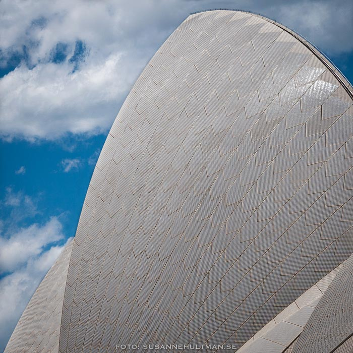 En del av taket på Sydney Opera House