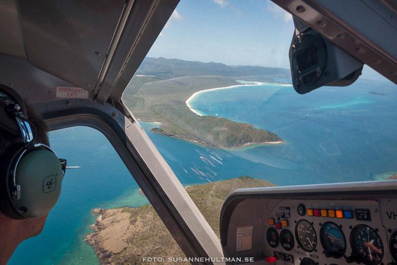 Utsikt från flygplanet över Whitehaven