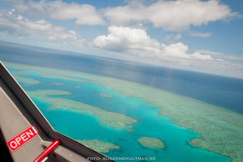 Korallreven från flygplanet