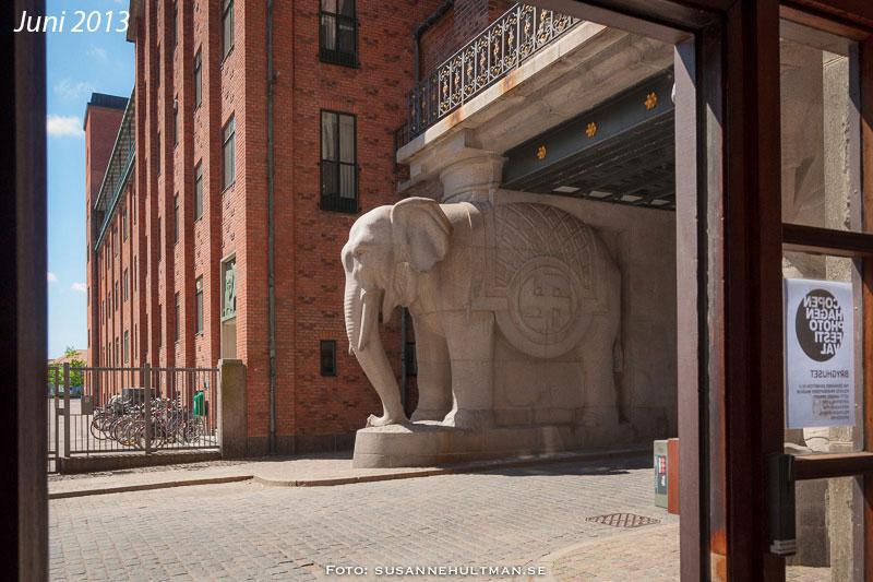 Elefant vid Carlsberg i Köpenhamn