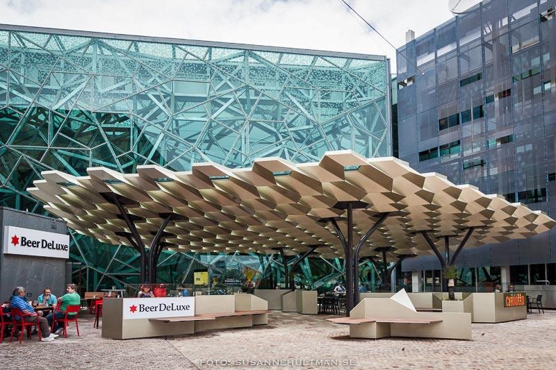 Ett roligt tak på Federation Square