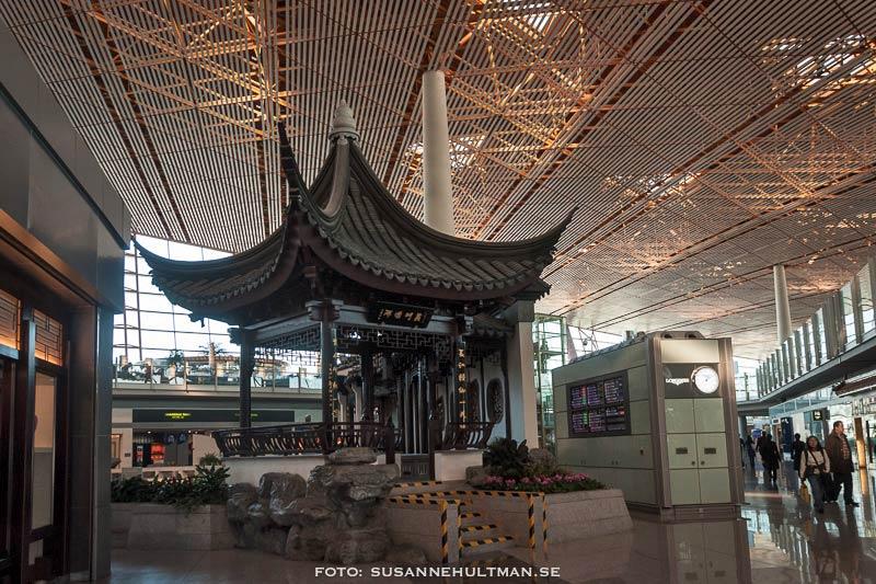 Ett kinesiskt hus på flygplatsen.