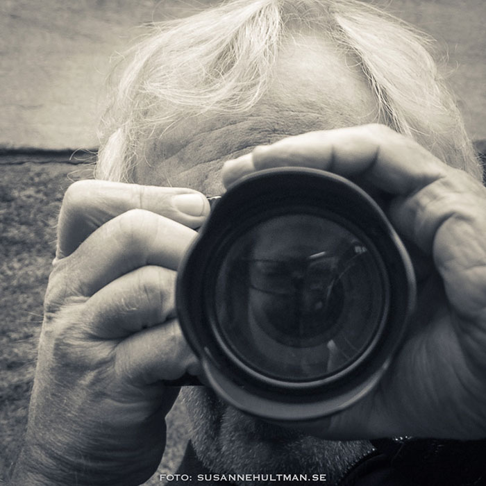 Larans med sin kamera