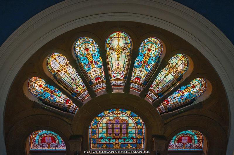 Fönster från en lägre våning