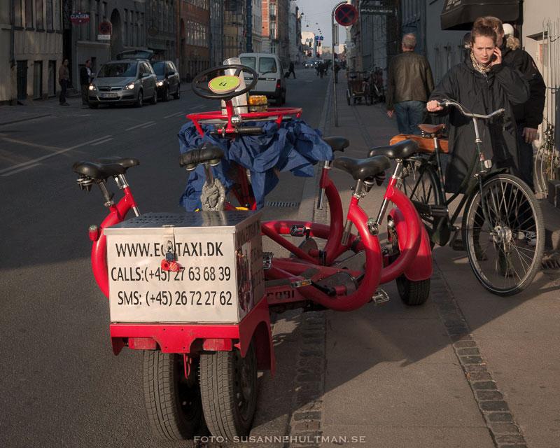 Cykeltaxi med plats för många
