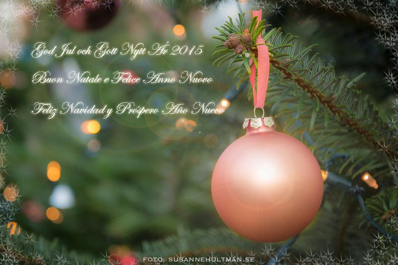 God Jul och Gott Nytt År på tre språk