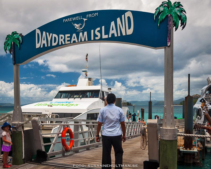 Båt vid ön Daydream Island