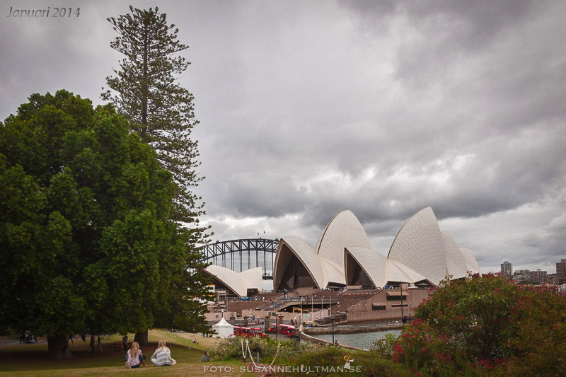 Sydneys Opera House och Harbour Bridge