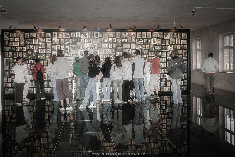 Elever studerar foton i Auschwitz