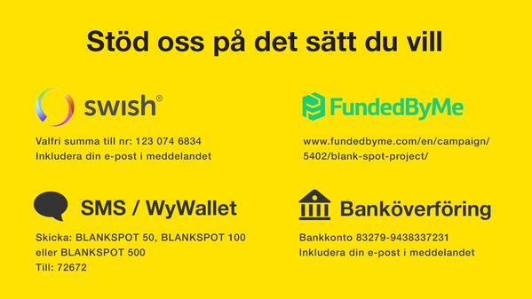 BlankSpotProject: Sätt att stödja