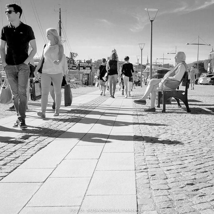 Flanerare vid Stockholms vatten