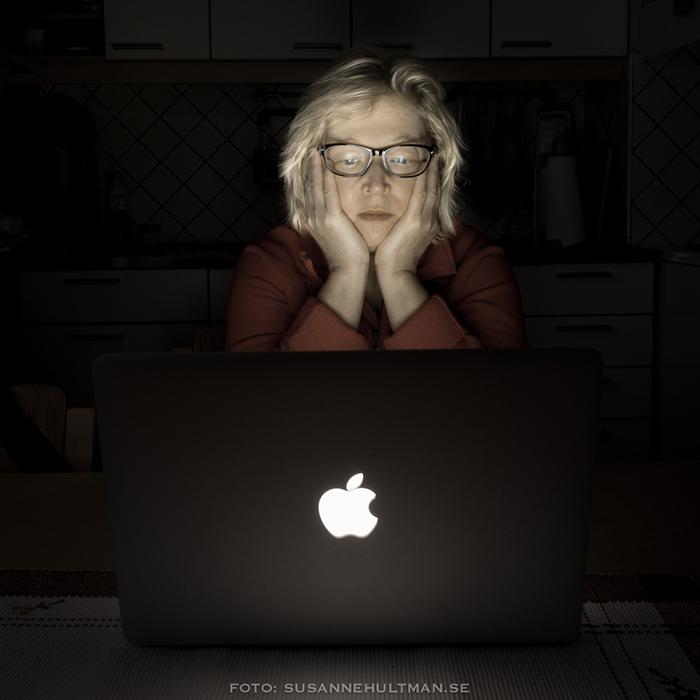 Självporträtt vid min MacBook Air
