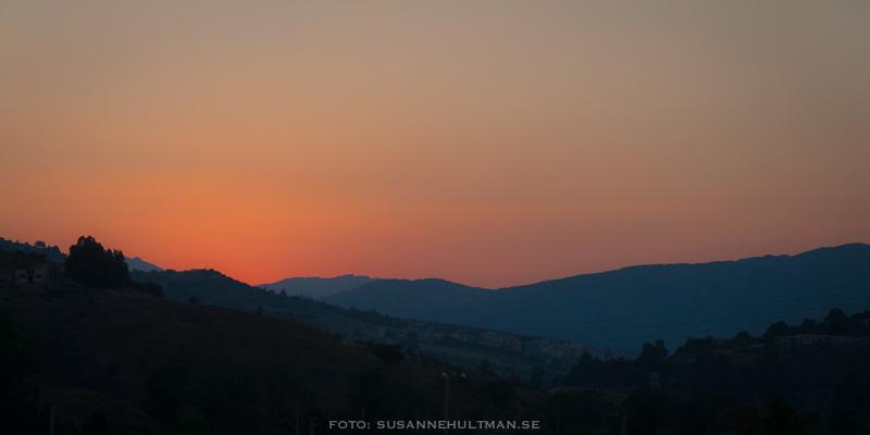 Solnedgång utanför Palermo