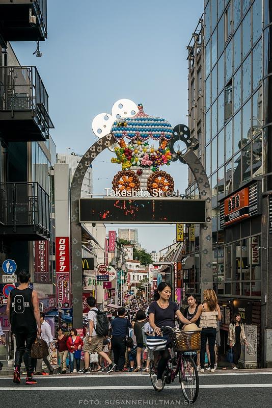 Ingången till Takeshita Street