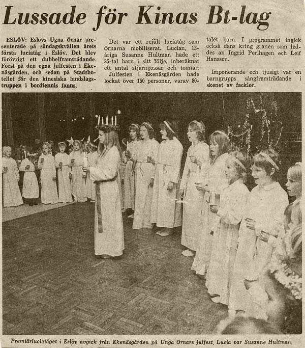 Tidningsartikel från 1971