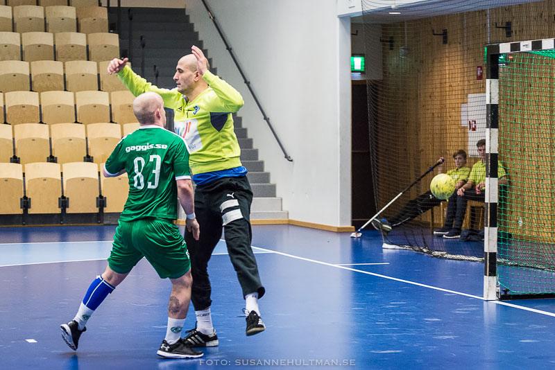 Handbollsspelare och målvakt