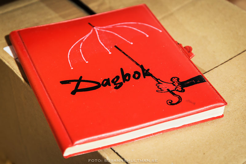 Hopslagen röd dagbok