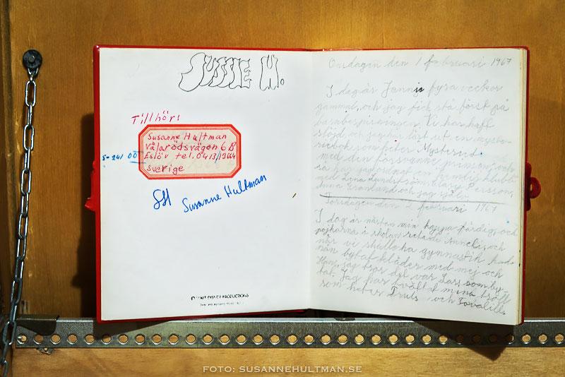 Uppslagen dagbok