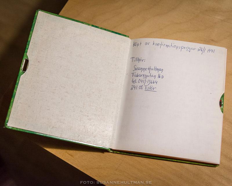 Detta var den första dagbok jag köpte själv. De två tidigare hade jag fått i present.