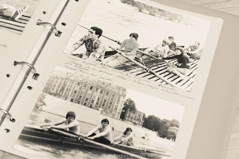 Foton av kanoter på Seine