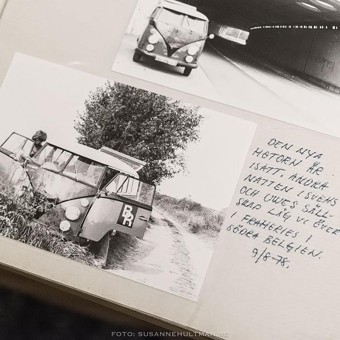 Albumfoto på folkvagnsbussen