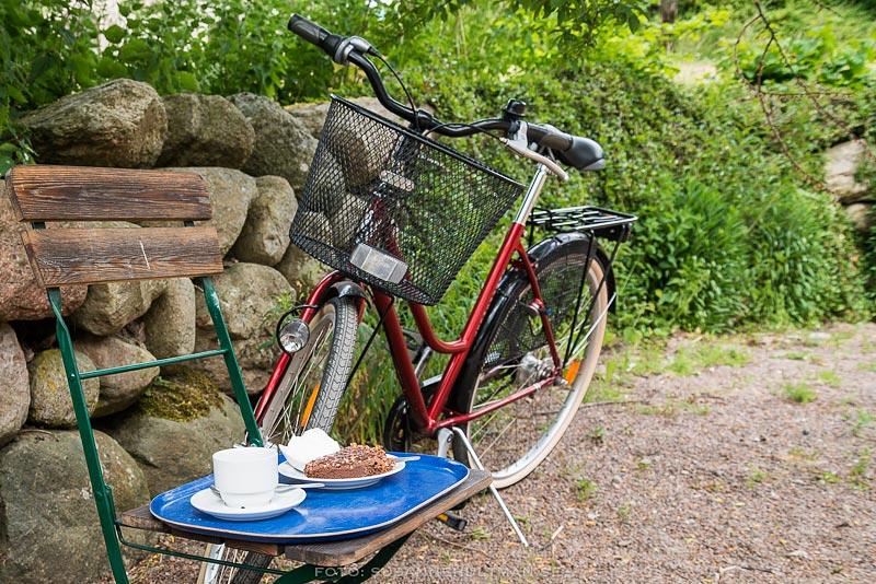 Kaffe, kaka och cykel