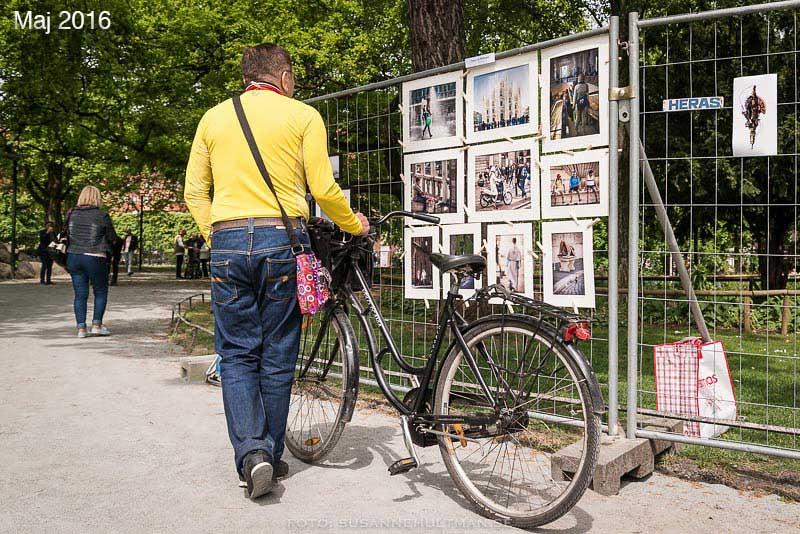 Cyklist vid mina Italienbilder